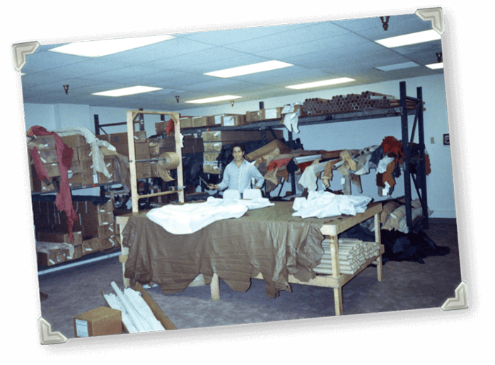 Katzkin Leather Room in 1992