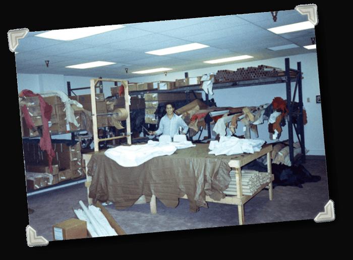 Katzkin Leather Room in 1992