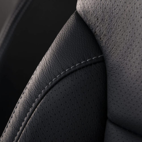 Katzkin Chevy Tahoe Black Leather Closeup
