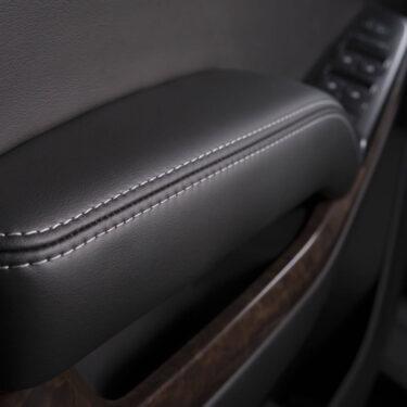 Katzkin Chevy Tahoe Black Leather Interior Door Panel