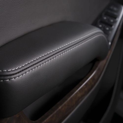 Katzkin Chevy Tahoe Black Leather Interior Door Panel