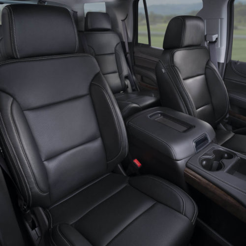 Katzkin Chevy Tahoe Black Leather Interior