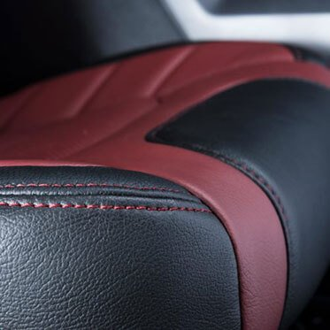 Katzkin Ford F150 Leather Seat Closeup 2