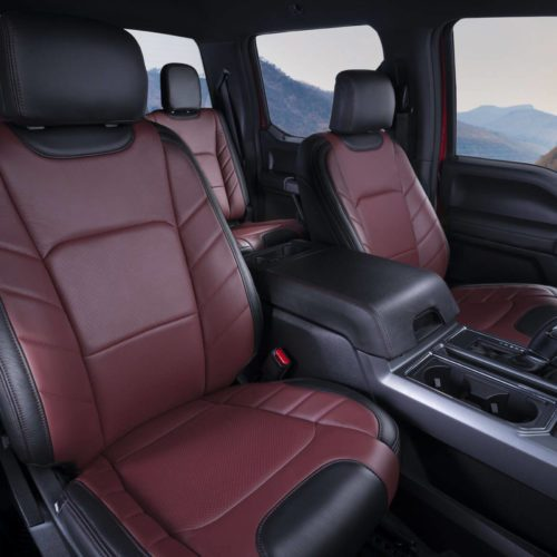 Katzkin Ford F-150 Red Leather Interior