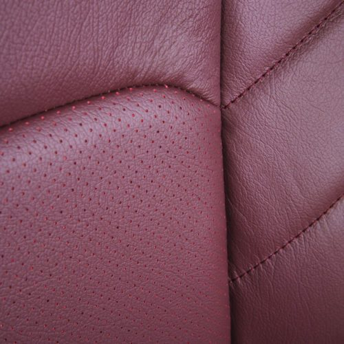 Katzkin Ford F-150 Red Leather Perforation