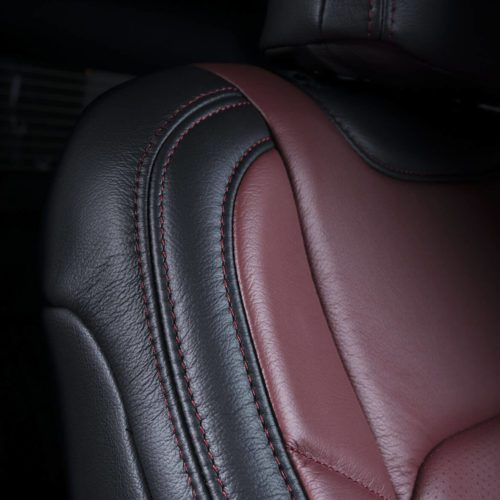 Katzkin Ford F-150 Red Leather Seat Upper