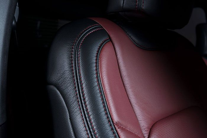 Katzkin Ford F150 Leather Seat Close-Up Detail