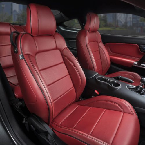 Katzkin Ford Mustang Red Leather Interior