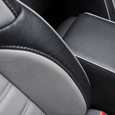 Katzkin Honda CRV Black & Grey Leather Seats and Center Console