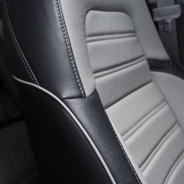 Katzkin Honda CRV Black & Grey Leather Seat Side View