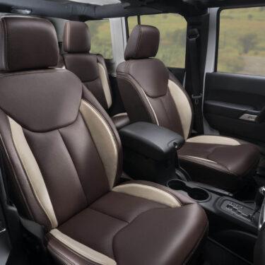 Katzkin Jeep Wrangler Brown Leather Seats and Interior