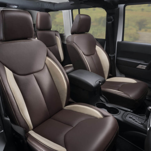 Katzkin Jeep Wrangler Brown Leather Seats and Interior