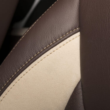 Katzkin Jeep Wrangler Suede Leather Seat Closeup