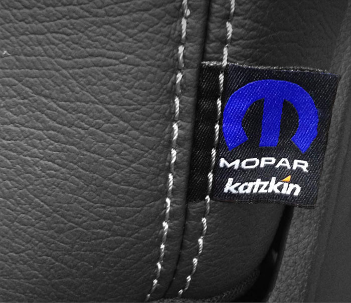Katzkin Leather Seat with Mopar Tag