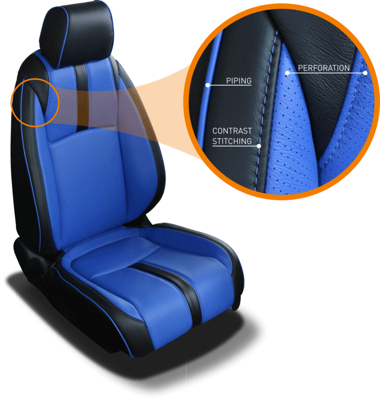 Katzkin Seat Stitching, Piping, and Perforation