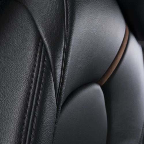 Katzkin Toyota Camry Black Leather Interior Side Angle