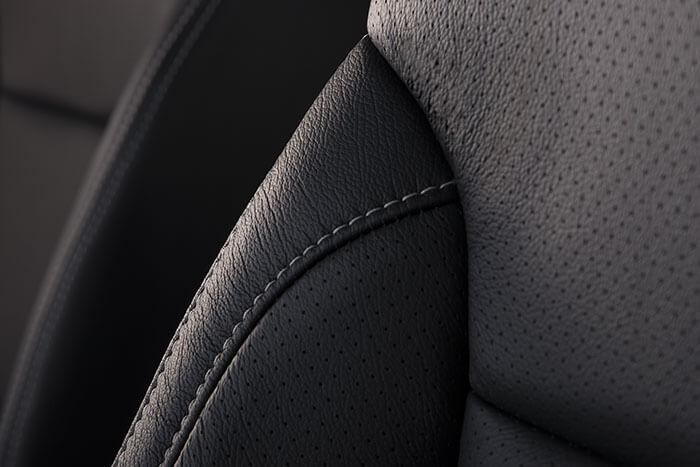 Chevy Tahoe black leather interior