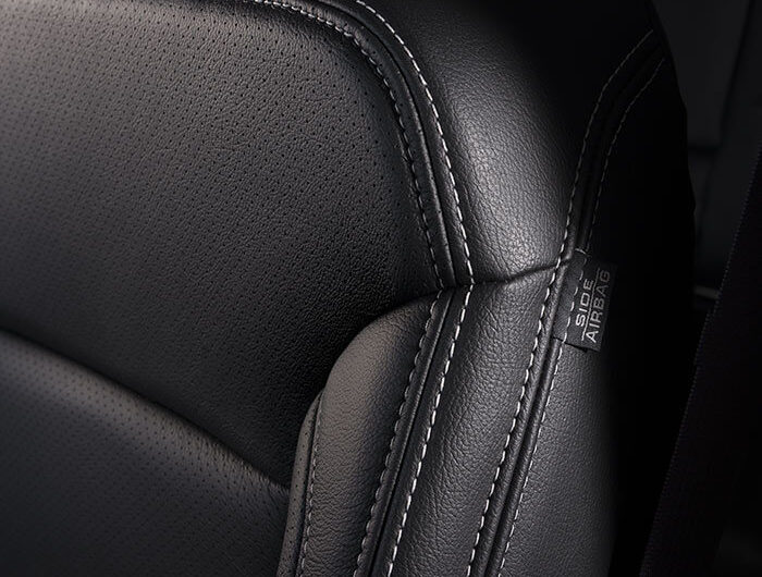 Chevy Tahoe black leather interior