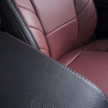 Katzkin Ford F-150 Red Leather Interior Center Console