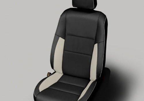 Rav4 Black With White Accent Leather Seat