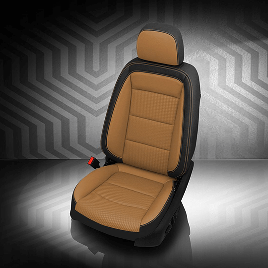 Chevrolet Equinox Brown and Black Leather Seat