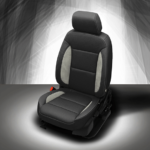 Chevy Traverse Black Leather Seat with Grey Accents
