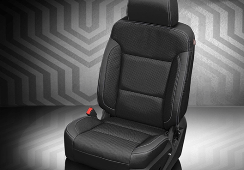 Chevrolet Silverado Black Leather Seat