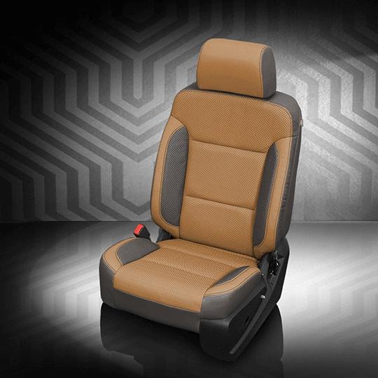 Chevrolet Silverado Tan Leather Seat