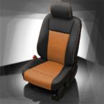 Ford F-250 Tan & Black Leather Seat