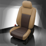 Ford F-250 Brown & Tan Leather Seat