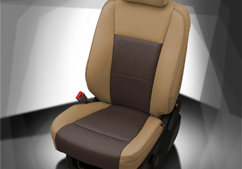 Ford F-250 Brown & Tan Leather Seat