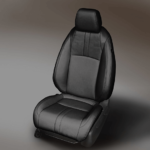 Honda Civic Black Leather Seat