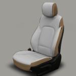 Hyundai Santa Fe Grey Leather Seat