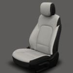 Hyundai Santa Fe Grey & Black Leather Seat