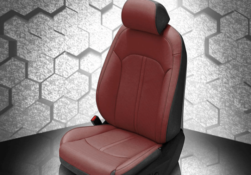 Hyundai Sonata Red Leather Seat