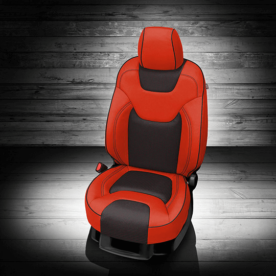 Jeep Cherokee Red & Black Leather Seat