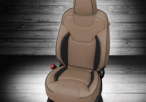 Jeep Cherokee Tan & Black Leather Seat
