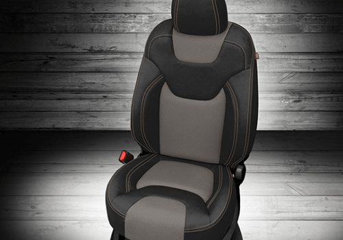 Jeep Cherokee Black & Grey Leather Seat