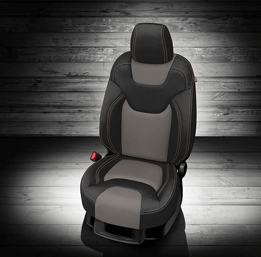 Jeep Cherokee Black & Grey Leather Seat