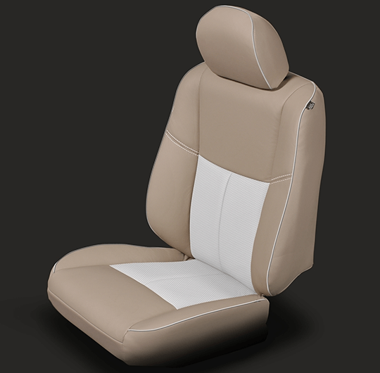 Nissan Altima Tan & White Leather Seat