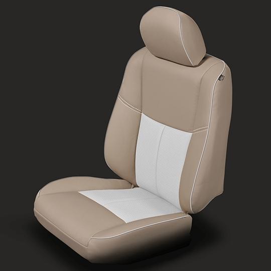 Nissan Altima Tan & White Leather Seat