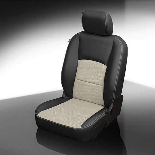 Ram 1500 Black & White Leather Seat