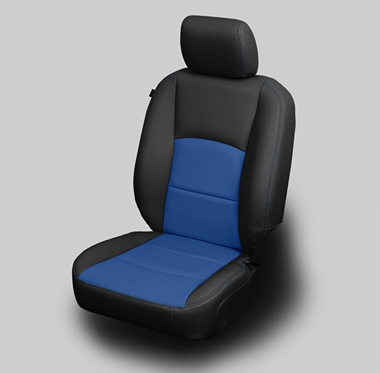 Ram 1500 Blue & Black Leather Seat