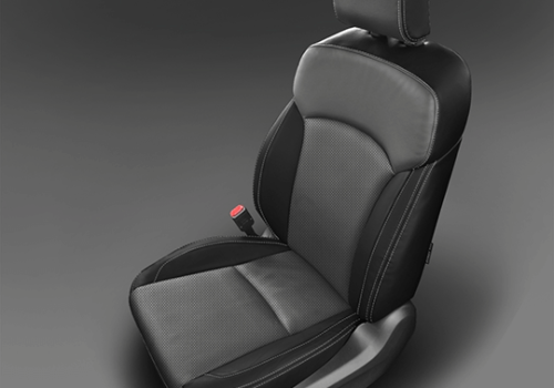 Subaru Forester Black & Grey Leather Seat