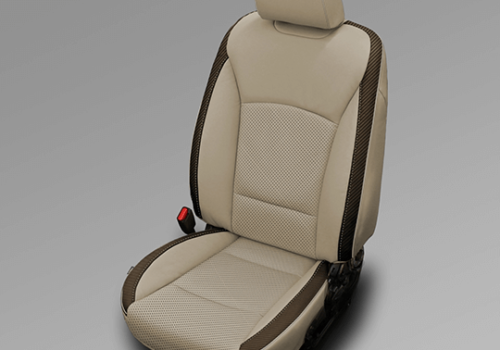Subaru Outback Beige with Brown Accent Leather Seats