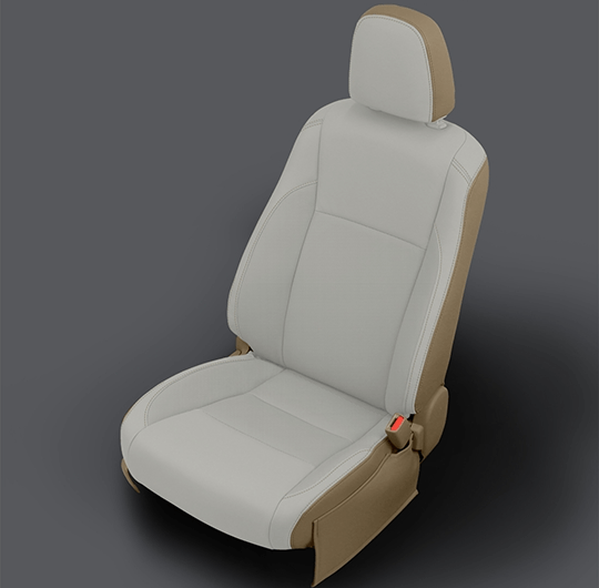 Toyota Highlander Light Tan Leather Seat
