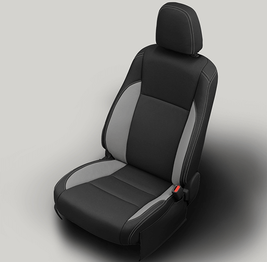 Toyota Highlander Black and Grey Leather Seat