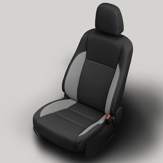 Toyota Highlander Black and Grey Leather Seat