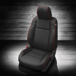 Toyota Tacoma Black Leather Seat With Rep Piping
