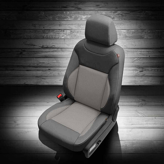 Dodge Charger Grey Leather Seat with Light Grey Middle